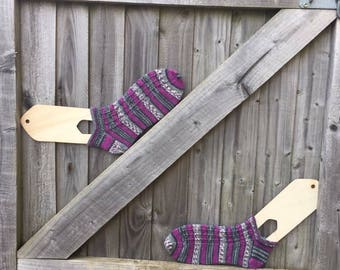 Girls hand knitted ankle socks made to order