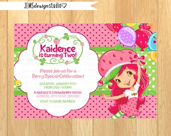 strawberry shortcake baby shower invitations