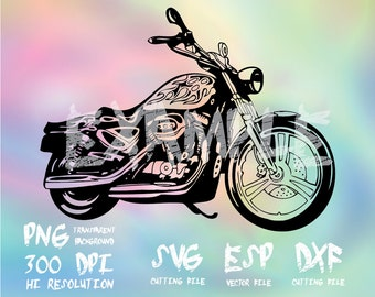 motorcycle harley davidson  Silhouette ,clipart,SVG,PNG 300dpi ,ESP vector