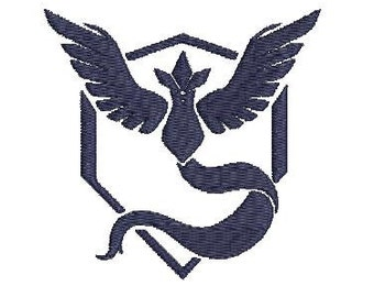 6 sizes - Mystic Team embroidery Design, Mystic Team Emblem, Pokemon Go Embroidery design, team Logo embroidery design, Instant Download