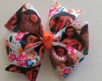 Moana inspired hair bow, Moana Birthday, Character hair bow, baby Moana headband, character headband, island hair bow, Moana and Maui