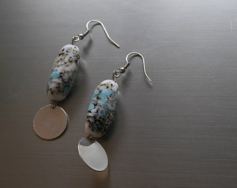 Marbled stones - Marble stones earrings earrings