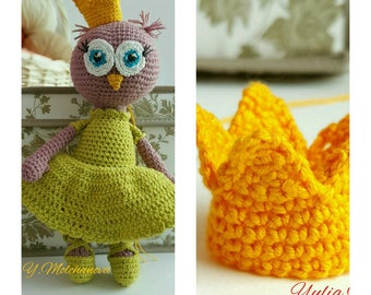 Crochet Owl Pattern Doll Amigurumi Pattern PDF Pattern English only