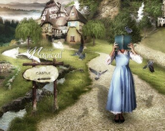 Beauty and the beast backdrop   Belle Background   Belle Reading   Village Backdrop   Belle Backdrop   French Village Backdrop