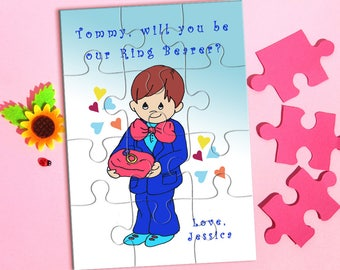 Will You be My Ring Bearer Puzzle, Ring Bearer Puzzle, Ring Bearer Proposal Gift, Will You Be Our Ring Bearer, Ask Ring Bearer, Page Boy