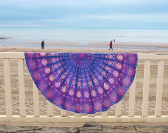 Bohemia round yoga mat sheet Beach pareo Mandala picnic Roundie