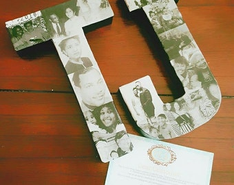 8 inch Memory Letter Black and White Photos