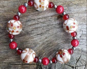 Festive holiday bracelets