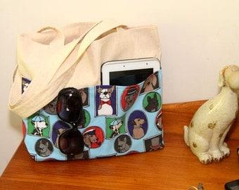 Dog Tote Bag - Handmade Bag - Tote Bag - Dog Handbag