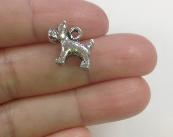 20 Pieces Small Terrier charm, dog charm, rescued dog charm, dog breed charm