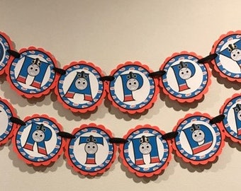 Thomas the train Birthday Banner