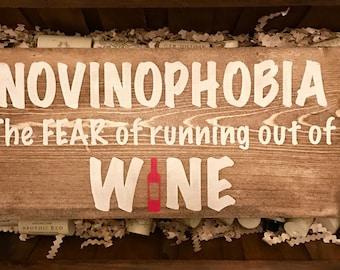 NOVINOPHOBIA Wood Sign
