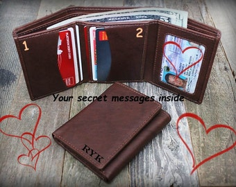 Gift for Man - Father's Day Gift - 3rd Anniversary Gift - Father's Gift - Boyfriend Gift - Wallet for Him - Trifold Wallet -RFID Toffee 7730