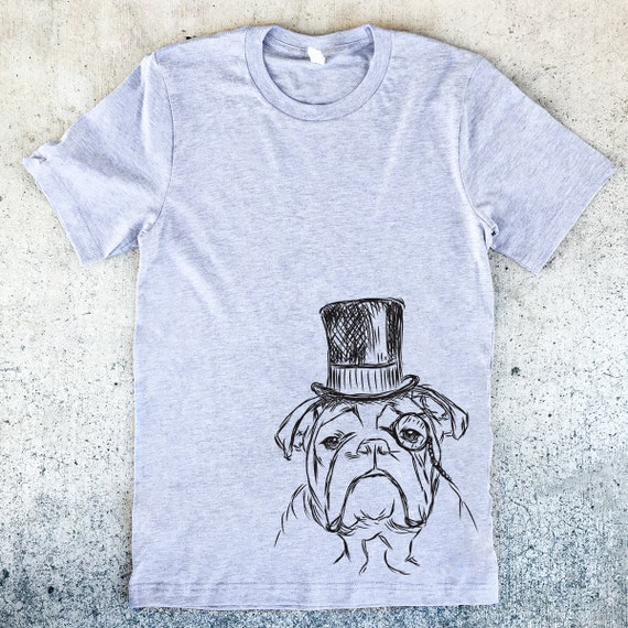 Sophisticated English Bulldog Unisex T-shirt - 3 Color Options - Dog Owner Gift, Dog Lover Gift, English Bulldog Lover, Bully Shirt