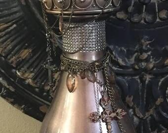 Decorated embelished jar