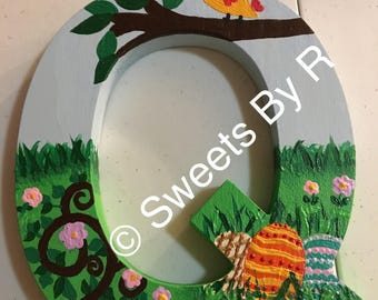 Easter Hand Painted Wooden Letters