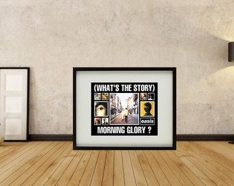 Oasis - What's The Story Morning Glory Montage Framed Print
