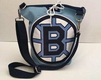 Custom Jersey Crossbody Tote Bag, Sports, Hockey, Football, Baseball, Basketball, Racing