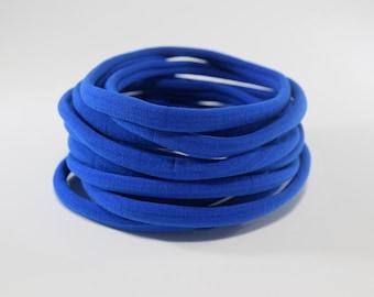 nylon headbands,ROYAL blue nylon headbands,nylon bands,one size fits most headbands,nylon bands, wholesale nylon headbands, stretchy elastic