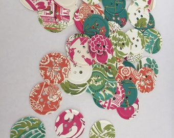 Anna Griffin Antique (50) Buttons/Button Punch Out/Button Die Cut/Embellishments/Card Making Supplies/Paper Confetti