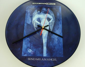 "Scorpions - Send Me An Angel 12"" Picture Disc Record Clock"