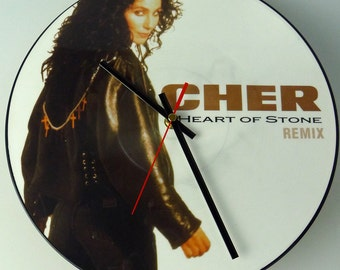 Cher - Heart Of Stone 12 Picture Disc Record Clock