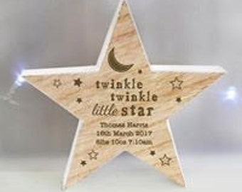 Personalised wooden or ceramic star