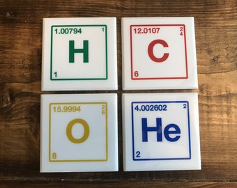 Element Coasters - Choose Any Elements and Colors