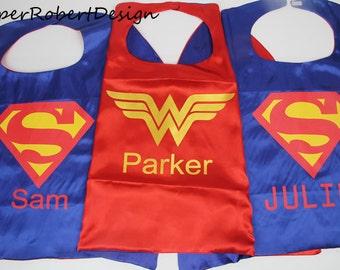PERSONALIZED superman superhero cape, custom cape