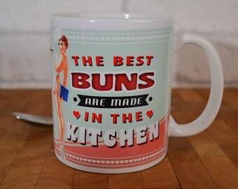 Retro Baking Mug, Retro Woman Mug, Cooking Mug, 11oz
