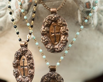 Our Lady of Guadalupe Roses Pendant Necklace