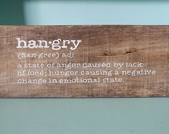 Hangry pallet wood sign