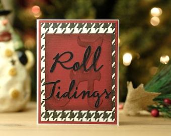 "Alabama Crimson Tide Holiday Card: ""Roll Tidings"" - 3 card pack (identical)"