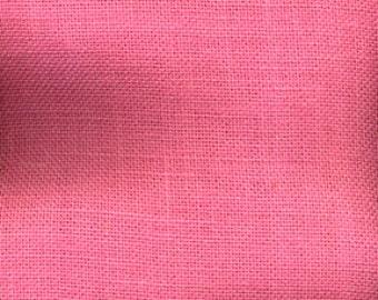 Pink  burlap runner,