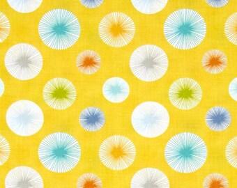 Pom Pom Dot Yellow from Dena Designs Happi Horses Fabric by the Yard