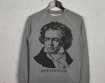 BEETHOVEN, Ludwig van - 'Gossage' 1962 Vintage Reprint, Grey Sweatshirt