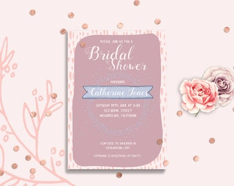 Bridal Shower Invitation Card PRINTABLE