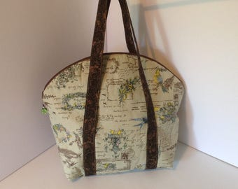 Round top tote bag