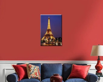 Eiffel Tower, Eiffel Tower Canvas, Led Wall Art, Lighted Canvas Art, Eiffel Tower Decor, Eiffel Tower Wall Art, Led Art, Eiffel Tower Art