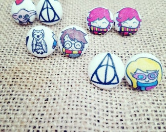Harry Potter Earring/Harry Potter/Harry Potter Jewelry/ Hedwig/Deathly Hallows Jewelry/Harry Potter Gifts/Dobby/Dumbledore/Luna Lovegood