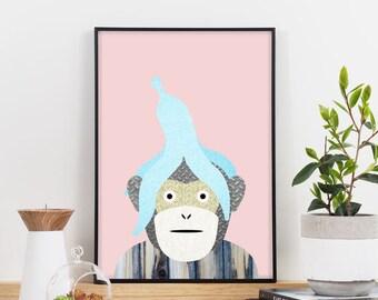 Who Ate My Banana Graphic Print (Pink)