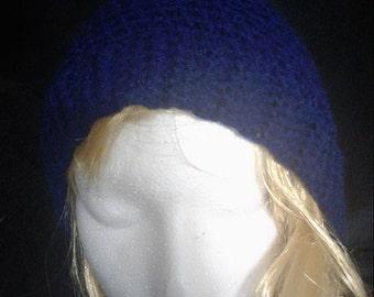 SALE!!! Navy Blue Crochet Beanie