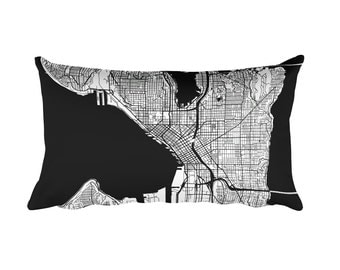 Seattle Pillow, Seattle Decor, Seattle Throw Pillow, Seattle Gift, Seattle Map, Seattle Art, Seattle Washington, Seattle WA, Cushion