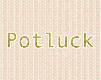 Potluck Stitch Marker Set