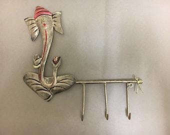 GANESHA KEY HANGER, Hindu God Ganesha Design Key Hook, Elephant God Ganesha Key Holder