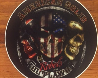 American Solid Rebels and Outlaws Sticker