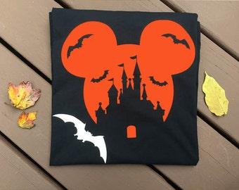 Disney Halloween shirts, Top Selling Items,  Disney Halloween Castle Shirts, Mickey and Minnie Couple Shirts, Matching Halloween shirts