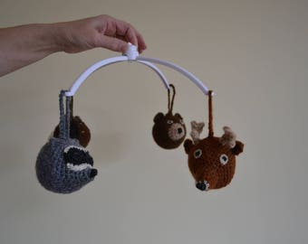 The forest animals heads crocheted