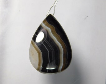AAA+ Natural Banded Agate Cabochon drill, banded agate drilled gemstone, banded agate gemstone,banded agate loose stone 44 Cts. #1560N