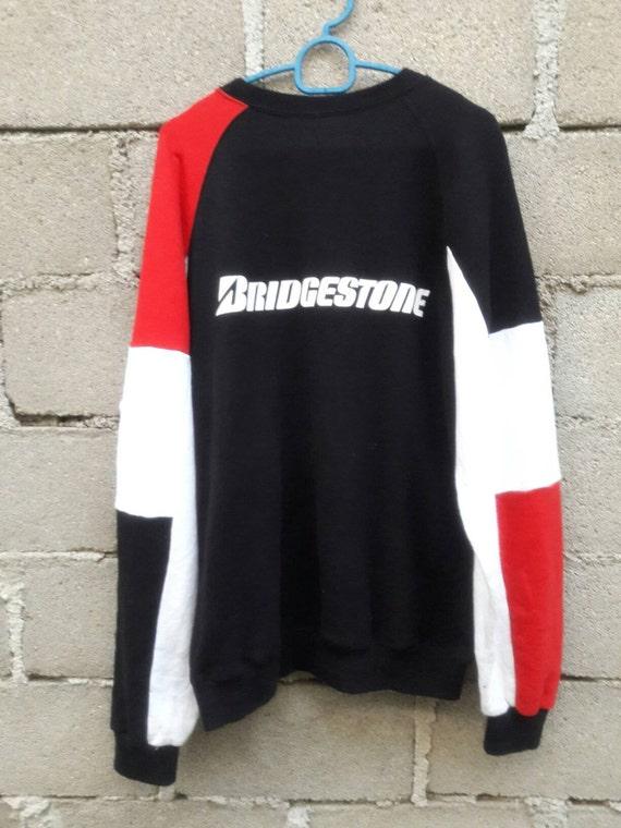 YEAR END SALE! Vintage Bridgestone Big logo sweatshirt / Medium
